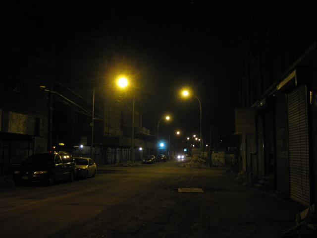 Greenpoint at night
